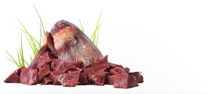 Rindfleisch als rohes Fleisch in Tiefkühlware